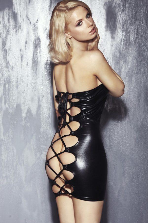 premium selection ae23e fcec8 schwarzes Nachtkleid Oxana S/M von 7-Heaven Dessous